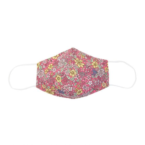 Personalisable Reusable Kids & Adult Mask in Coral Spring Bloom Print