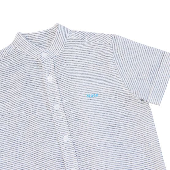 *New* Personalisable Boys Shirt in Blue Stripes