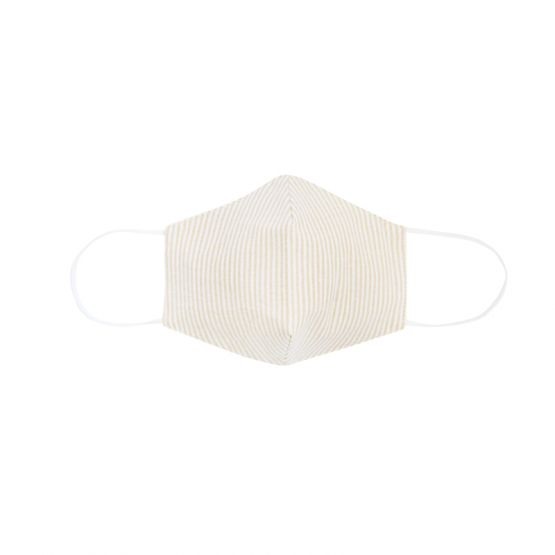 Personalisable Reusable Kids & Adult Mask in Beige Stripes