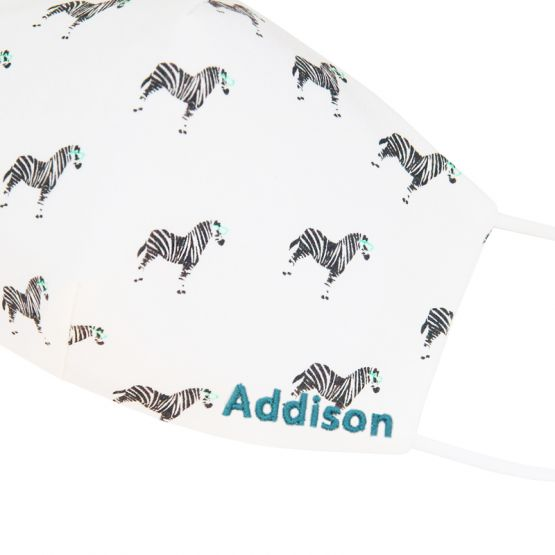 Personalisable Reusable Kids & Adult Mask in Black Zebra Print