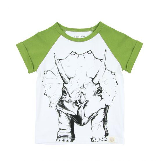 Dino Triceratops Raglan Tee