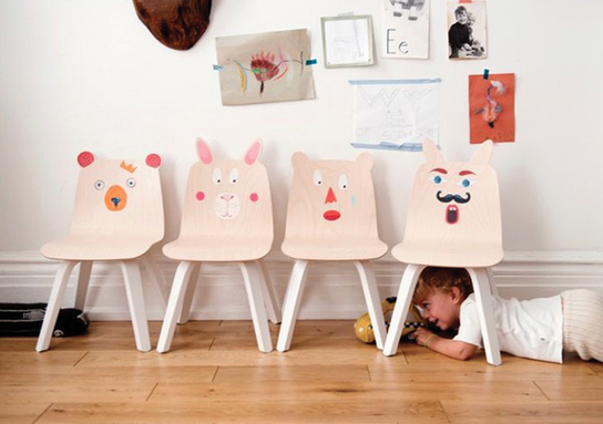 Loves :: Oeuf Bear and Rabbit Chairs