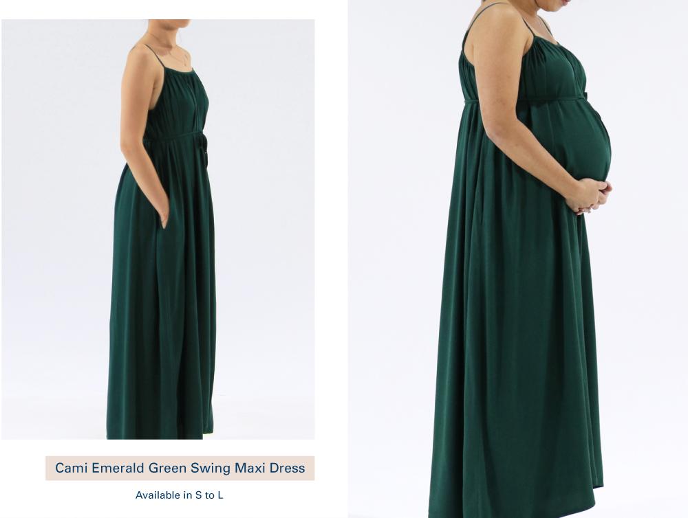 Shop Cami Emerald Green Swing Maxi Dress
