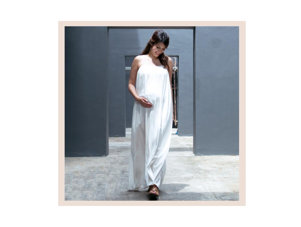 Shop Cami Ivory White Swing Maxi Dress