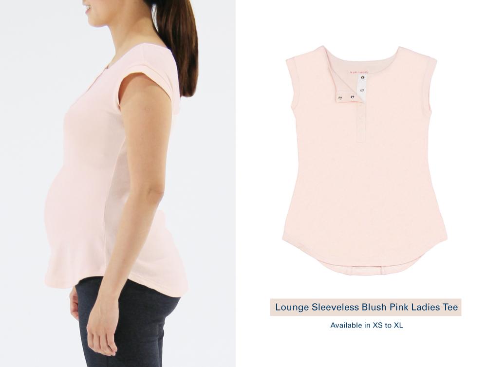 Shop Lounge Sleeveless Blush Pink Ladies Tee