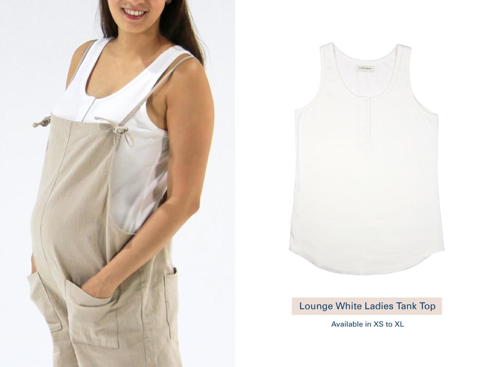 Shop Lounge White Ladies Tank Top