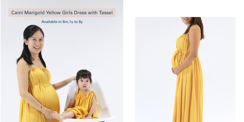 Shop Cami Marigold Yellow Girls Dress with Tassel