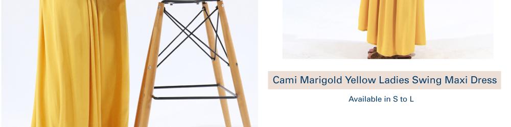 Shop Cami Marigold Yellow Ladies Swing Maxi Dress